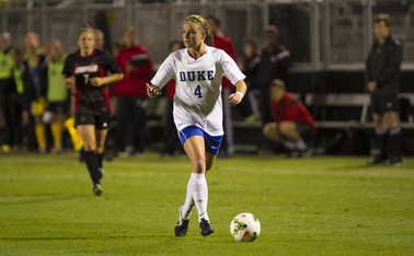 Freshman Ashton Miller scored the first goal of her career as a Blue Devil last weekend, and will see her first action in the Duke-North Carolina rivalry Sunday at Koskinen Stadium.