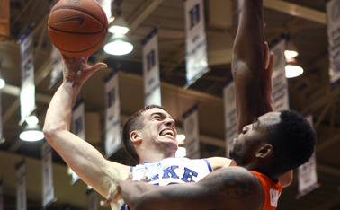 Redshirt sophomore Marshall Plumlee played quality minutes in the first half of Duke's 66-60 victory against Syracuse.