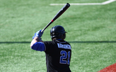 Right fielder Chris Marconcini went 4-of-4, reached base in all seven appearances and scored three of Duke's nine runs.