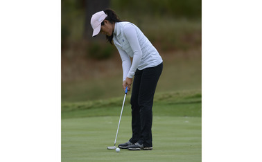 Playing her first college tournament of the season, junior Celine Boutier carded a six-under-par, good for a third-place finish.