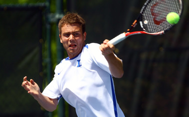 Raphael Hemmeler fell in the singles draw, but registered an upset victory in doubles in Tulsa, Okla.