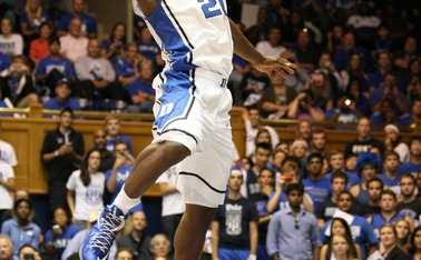 Semi Ojeleye will have stiff competition from teammates Grayson Allen and Justise Winslow in the post-scrimmage dunk contest at Countdown to Craziness.