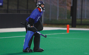Duke goaltender Lauren Blazing has allowed just three goals in her past three games.