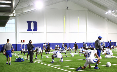 Duke made wholesale upgrades to its practice facilities with the opening of the Pascal Field House in 2011.