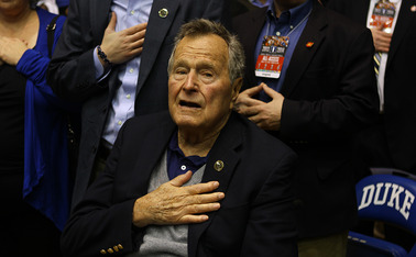 Former President George H.W. Bush became the first U.S. President to watch a Duke basketball game at Cameron Indoor Stadium.