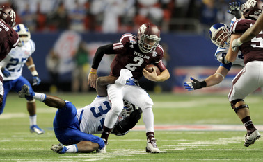Johnny Manziel had the last laugh, leading his Texas A&M squad in a second-half comeback to defeat Duke in the Chick-fil-A Bowl.