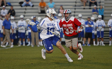 Duke struggled with turnovers in the second quarter as the Buckeyes reeled off six unanswered goals to seize control.