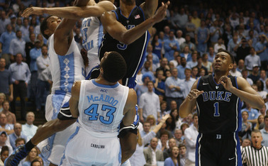 Redshirt sophomore Rodney Hood pointed to rim protection as the key to topping a tough Tar Heel squad.