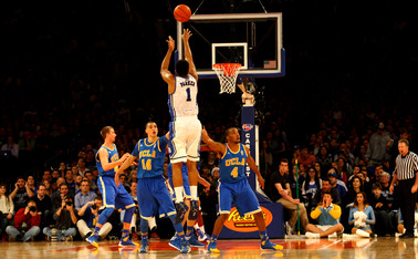 Jabari Parker led all scorers with 23 points to help Duke pull away from UCLA with a strong second-half performance.