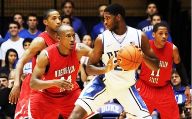 Freshman Amile Jefferson pumped up the crowd all night with athletic and energetic plays.