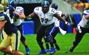 Offensive guard Laken Tomlinson could become the first Duke player taken in the first round of the NFL draft since 1992 Thursday night in Chicago.