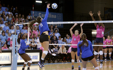 Emily Sklar tallied 17 more kills but the Blue Devils fell to N.C. State to snap the team's 10-game winning streak.