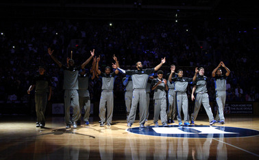 Duke is one of numerous programs around the country that participates in an annual season kickoff pep rally and scrimmage.