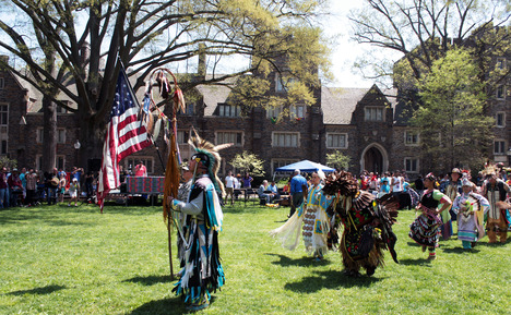 The Native American Student Alliance organizes an annual powwow to take place on Main Quad, bringing in visitors from around the state.