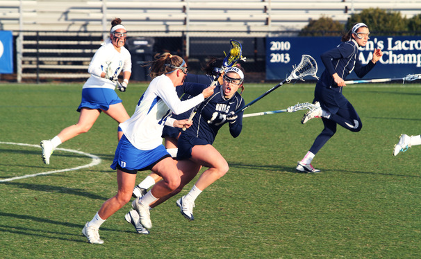 Two runs of 10 unanswered goals spurred Duke to a 21-2 victory against Davidson, giving the Blue Devils their second straight win.