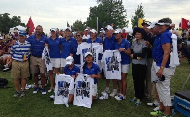 The Blue Devils put together 13 birdies in the final nine holes of the tournament to win the national title and defeat No. 1 Southern California.