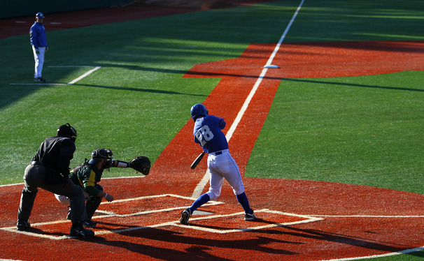 Grant McCabe led the Blue Devils in last year's matchup with Liberty, driving home two runs in the loss.