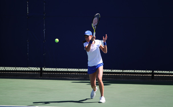 Sophomore Beatrice Capra headlined Duke's showing at the Riviera Championships, reaching the quarterfinal round.