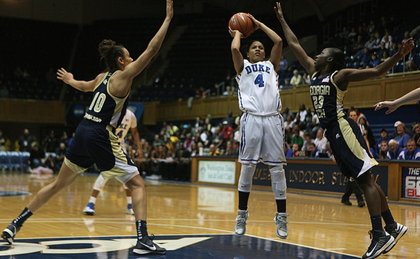 After missing almost a full year, Chloe Wells finally got back on the scoreboard against Gerogia Tech.