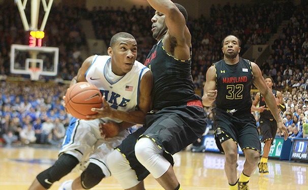 Freshman Rasheed Sulaimon scored a career-high 25 points to lead Duke to an 84-64 victory over Maryland.