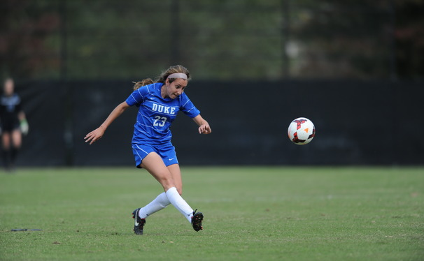 Kaitlyn Kerr scored two goals as the Blue Devils used a first-half offensive explosion to rout Pittsburgh.