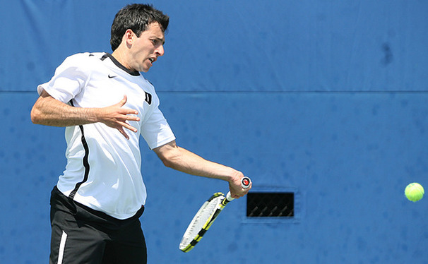 With a win Sunday, Henrique Cunha completed his senior season with a perfect 16-0 singles record.