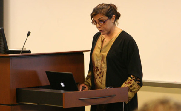 "Negar Mottahedeh, associate professor of literature, emphasizes the importance of social media in Iran during its post-election turmoil earlier this year. Mottahedeh spoke as a part of the ""Witnessing Iran"" event Wednesday."