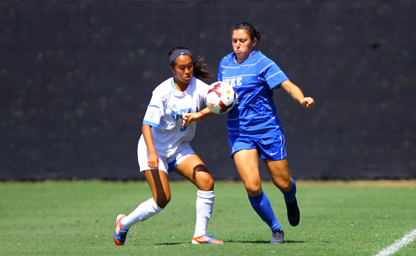 Senior Mollie Pathman scored two goals off penalty kicks for Duke, which amounted to the Blue Devils only two tallies of the weekend