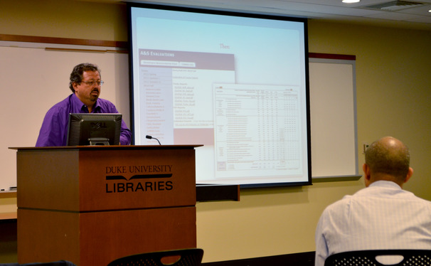 Administrators discussed how course evaluations will be completed online starting this semester.