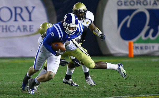 Conner Vernon eclipsed the ACC record for career receiving yards in Duke's loss to Georgia Tech.