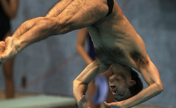 Nick McCrory won his third NCAA platform diving title this weekend.