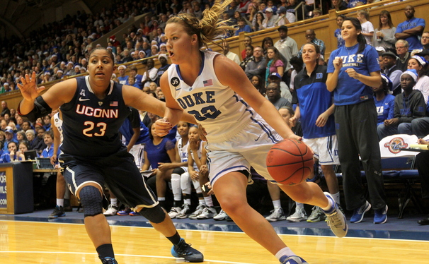 Connecticut was able to lock down senior guard Tricia Liston as the top-ranked Huskies cruised by Duke.