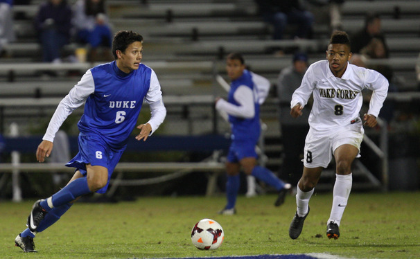 Sean Davis got the scoring started for the Blue Devils with a 30-yard strike on a free kick as the Duke offense continued to roll in its second exhibition game.