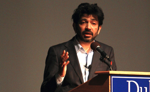 Pulitzer Prize-winning author Dr. Siddhartha Mukherjee spoke about the history of cancer and his book in Page Auditorium Wednesday.