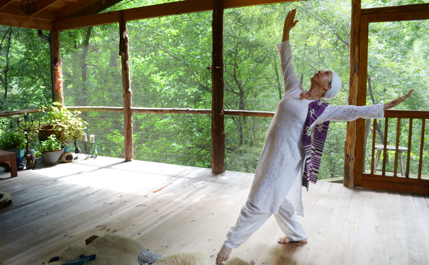Professor Khalsa shows off her dance expertise, which she uses to mentor Duke students.