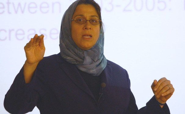 Princeton University professor Amaney Jamal spoke at Duke Monday about Islam and the 2012 presidential election.