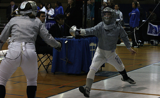 "Senior women's fencer Sean Cadley is ""utterly dominating"" on the team."