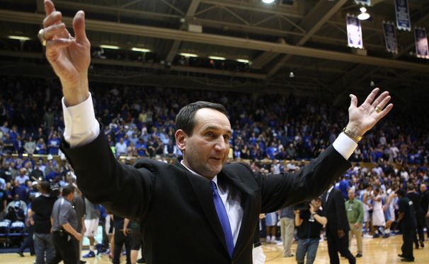 After Duke's win against North Carolina, Hall of Fame head coach Mike Krzyzewski refuted claims that he artificially colors his hair.