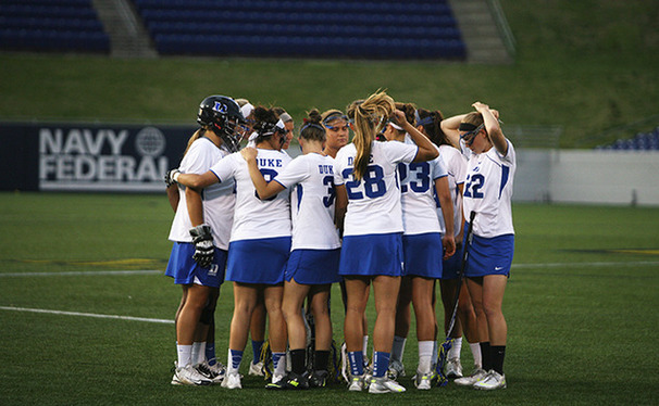 By defeating Navy, the Blue Devils advance to face top-seeded Maryland in the NCAA quarterfinals.