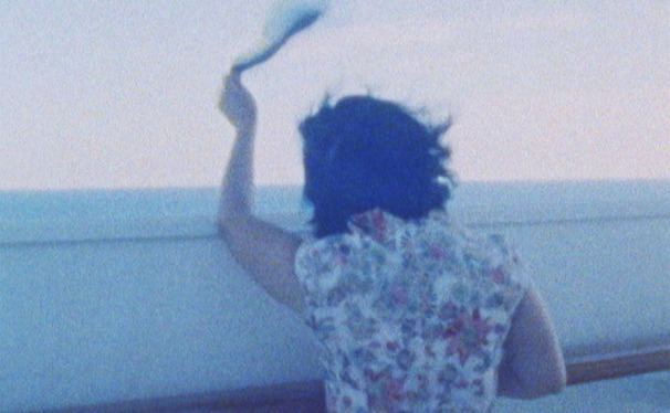 Still from Jing Niu's film Departing. Super 8mm & Black Magic. 30 mins.