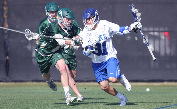 Senior Jordan Wolf scored two goals and added four assists as the Blue Devils defeated Jacksonville 16-10 in their season-opener.