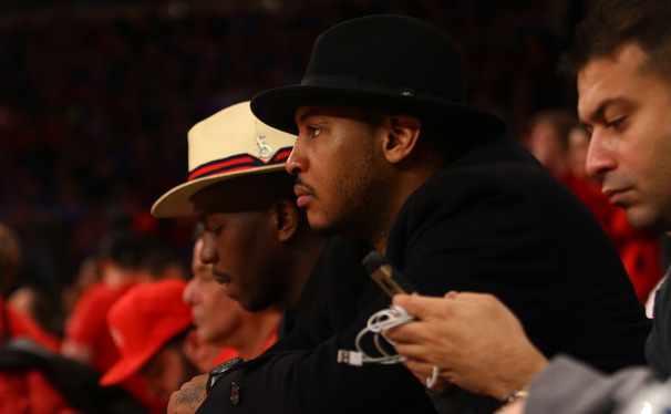 Celebrities like Carmelo Anthony turned out in droves for Duke-St. John's at Madison Square Garden Sunday afternoon.