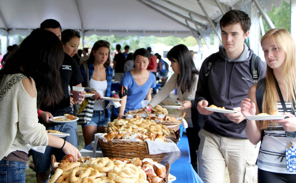 Duke brough Oktoberfest to West Campus Friday.