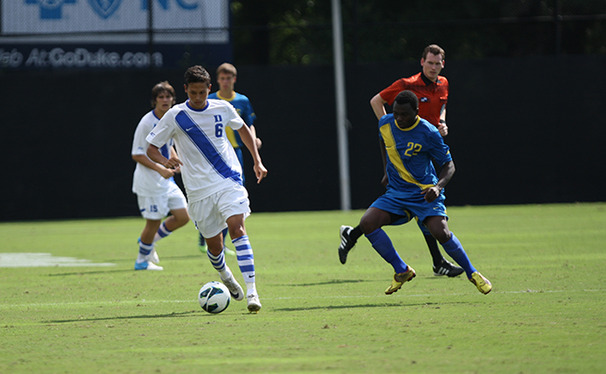 Midfielder Sean Davis scored one of four Duke goals in its exhibition victory against Old Dominion Friday night.