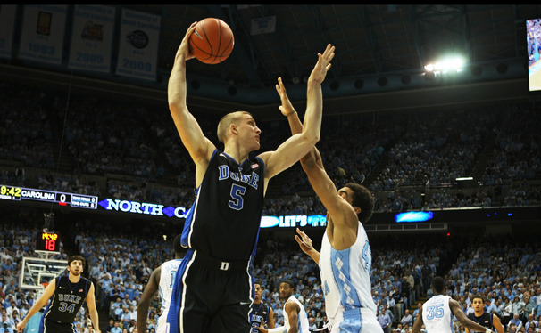 After leading the Blue Devils to the Elite Eight in his senior season, Mason Plumlee returned to Duke with the Brooklyn Nets.