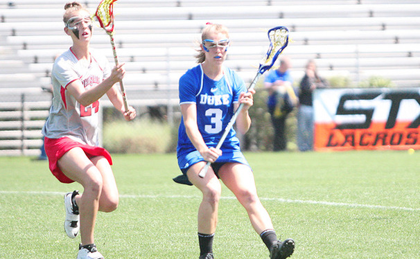 Maddy Morrissey tallied three scores for Duke, but the Blue Devils could not keep up with Maryland's attack.