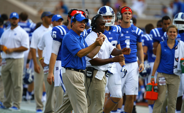 Leading the Blue Devils to a 10-win season, Duke head coach David Cutcliffe was named ACC Coach of the Year for the second straight season.