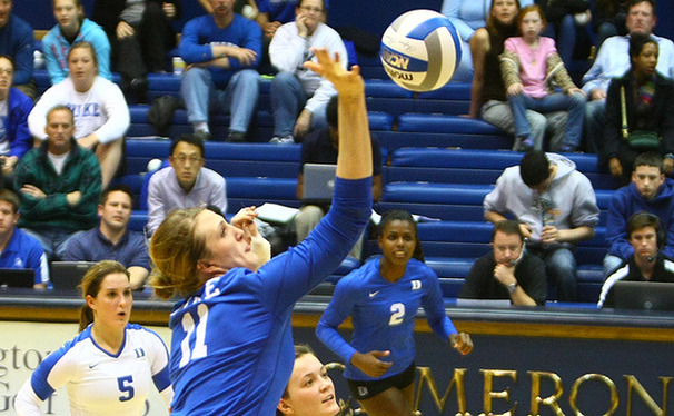 Christiana Gray was one of three seniors to finish her Cameron career Saturday.