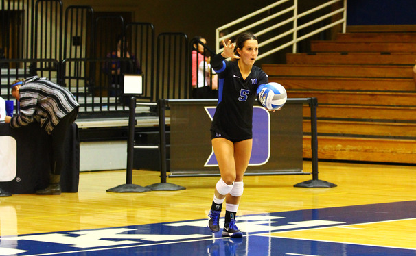 Senior Ali McCurdy led Duke with 14 digs in its last victory against Virginia Tech.