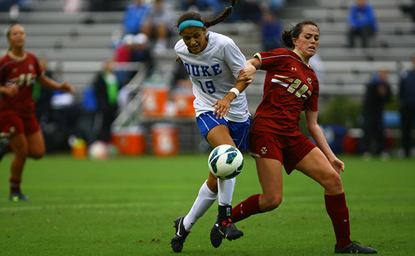 Kim DeCesare scored Duke's lone goal of the weekend in a 1-0 victory against Texas A&M Friday.